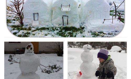 snöskulptur